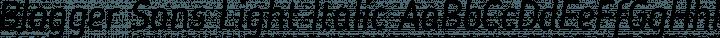 Blogger Sans Light Italic free font