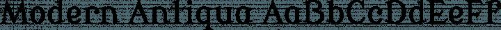 Modern Antiqua font family by wmk69