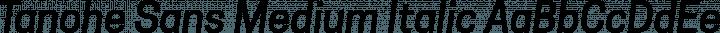 Tanohe Sans Medium Italic free font