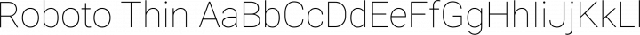 Roboto Thin free font