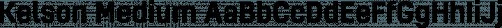 Kelson Medium free font
