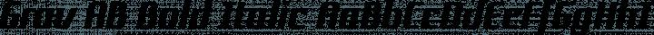Grov AB Bold Italic free font