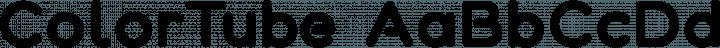 ColorTube Regular free font
