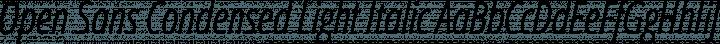 Open Sans Condensed Light Italic free font