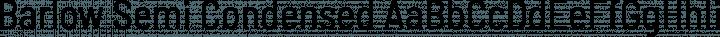 Barlow Semi Condensed Regular free font