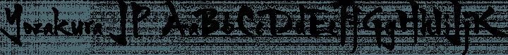 Yozakura JP Regular free font
