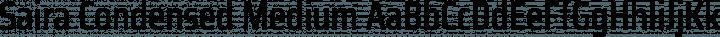 Saira Condensed Medium free font
