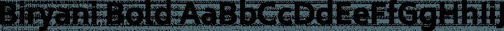 Biryani Bold free font