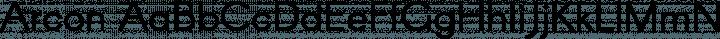 Arcon Regular free font