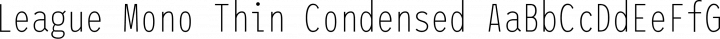 League Mono Thin Condensed free font
