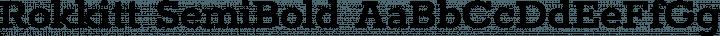 Rokkitt SemiBold free font