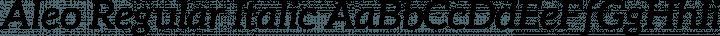 Aleo Regular Italic free font