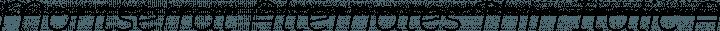 Montserrat Alternates Thin Italic free font