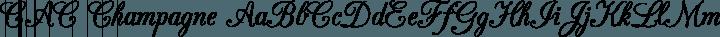 CAC Champagne Regular free font