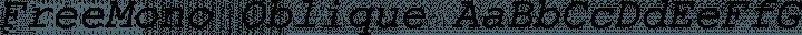 FreeMono Oblique free font