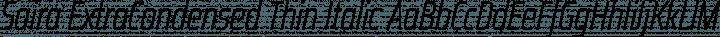 Saira ExtraCondensed Thin Italic free font