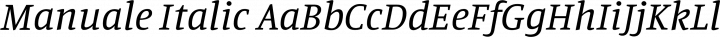 Manuale Italic free font