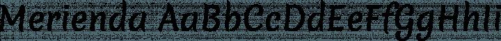 Merienda font family by Eduardo Tunni