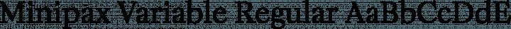 Minipax Variable Regular free font