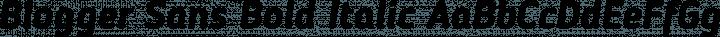 Blogger Sans Bold Italic free font