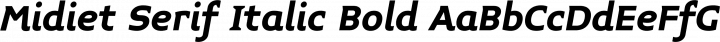 Midiet Serif Italic Bold free font