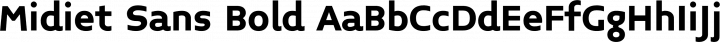 Midiet Sans Bold free font