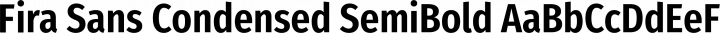 Fira Sans Condensed SemiBold free font