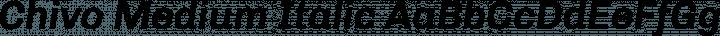 Chivo Medium Italic free font