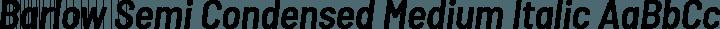 Barlow Semi Condensed Medium Italic free font