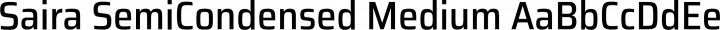 Saira SemiCondensed Medium free font