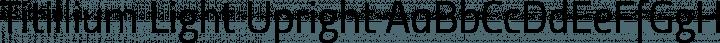 Titillium Light Upright free font