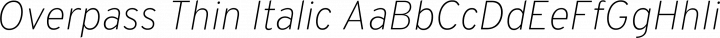Overpass Thin Italic free font