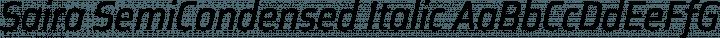 Saira SemiCondensed Italic free font