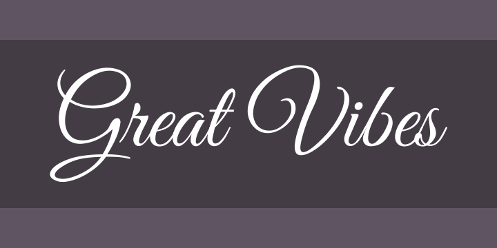 Great Vibes Font Free by TypeSETit | Font Squirrel