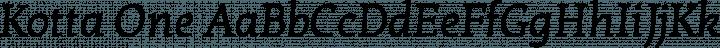Kotta One font family by Ania Kruk