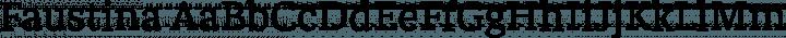 Faustina Regular free font