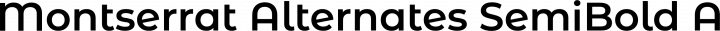 Montserrat Alternates SemiBold free font