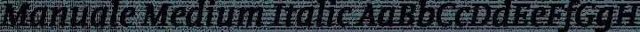 Manuale Medium Italic free font