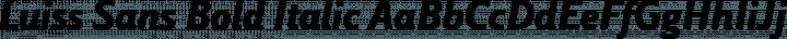Luiss Sans Bold Italic free font