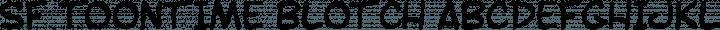 SF Toontime Blotch Regular free font