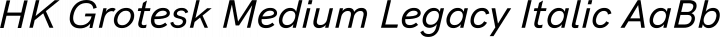 HK Grotesk Medium Legacy Italic free font