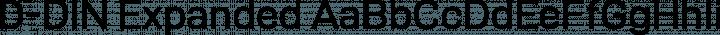 D-DIN Expanded Regular free font