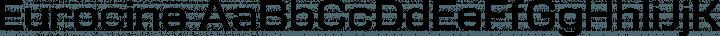 Eurocine Regular free font