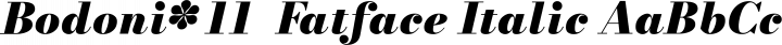 Bodoni* 11  Fatface Italic free font