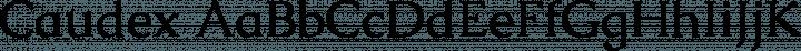 Caudex font family by Hjort Nidudsson