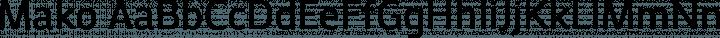Mako Regular free font