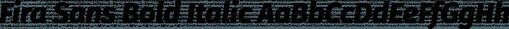 Fira Sans Bold Italic free font