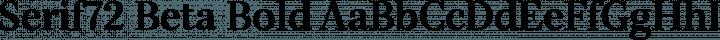Serif72 Beta Bold free font