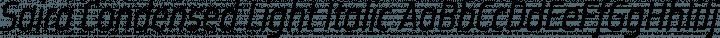 Saira Condensed Light Italic free font