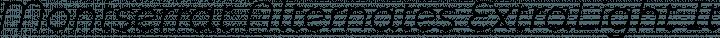 Montserrat Alternates ExtraLight Italic free font